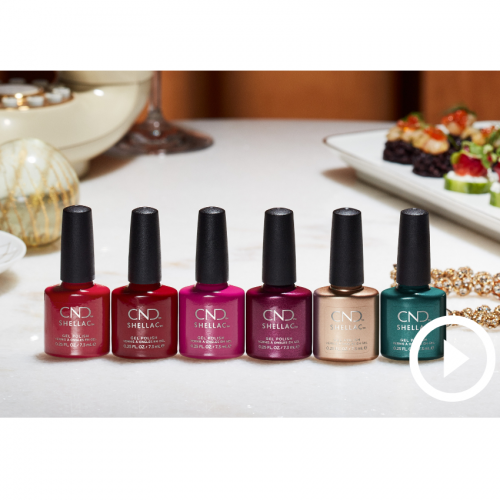 CND Shellac Cocktail Couture Promo Set + Gratis Juwelry Case